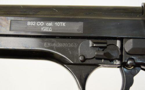 Охолощенный СХП пистолет B92 Kurs (Beretta) 10ТК