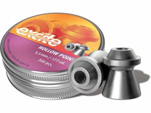 Пули H&N Excite Hollow Point 5,5 мм, 0,82 грамм, 200 штук