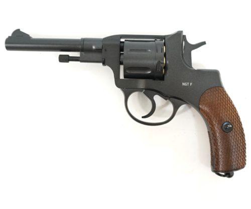 Пневматический револьвер Gletcher NGT F Black (Наган)