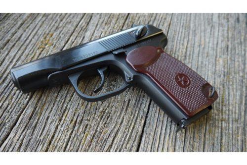 Охолощенный СХП пистолет Макарова Р-411 Бакелит  (Байкал) 10ТК
