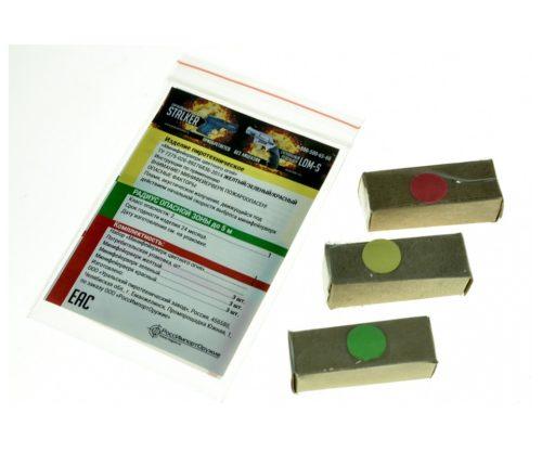 Минифейерверк цветного огня: красный, желтый, зеленый (9 штук)