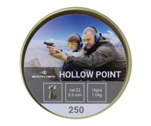 Пули Borner Hollow Point 5,5 мм, 1,04 грамм, 250 штук