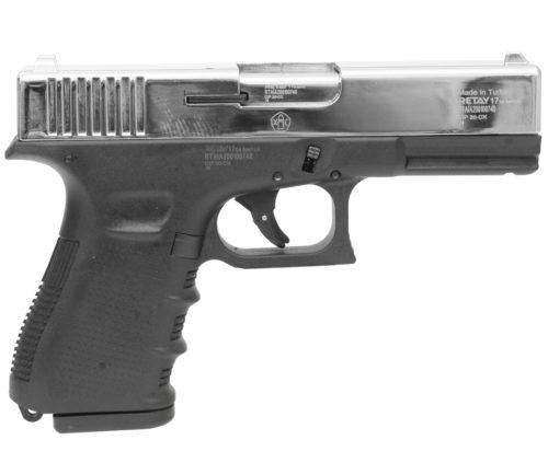 Охолощенный пистолет Retay Glock 17 (Никель)